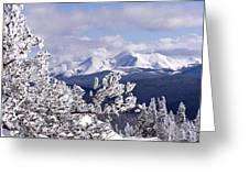Colorado Sawatch Mountain Range Greeting Card