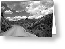 Colorado Shelf Road 1 B-w Greeting Card