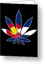 Colorado Weed Leaf Greeting Card