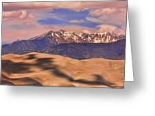 Colorado's Great Sand Dunes Shadow Of The Clouds Greeting Card