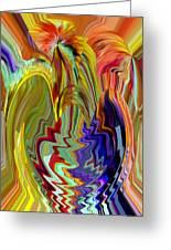 Colorburst Vase Greeting Card