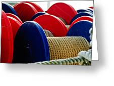 Colored Boat Ropes Greeting Card