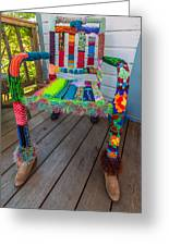 Colored Chair Greeting Card