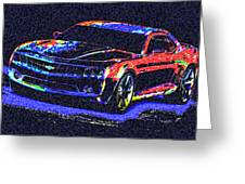 Colored Chevy Faa2 Greeting Card