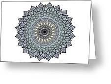 Colored Flower Zentangle Greeting Card