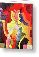 Colored Forms IIi By August Macke Greeting Card