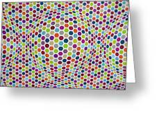 Colored Geometries Greeting Card