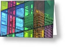 Colored Glass 10 Greeting Card