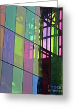 Colored Glass 11 Greeting Card