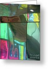 Colored Glass 14 Greeting Card