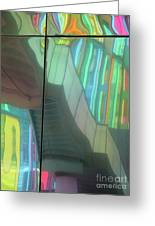 Colored Glass 15 Greeting Card