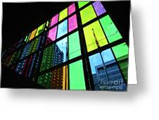 Colored Glass 3 Greeting Card