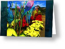 Colored Glass Plants Greeting Card