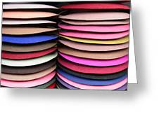 Colored Hat Brims Greeting Card