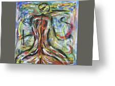 Colored Male Back Greeting Card