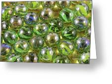 Colored Marbles Greeting Card