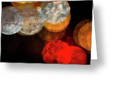 Colored Moons 1 Greeting Card