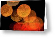 Colored Moons 4 Greeting Card