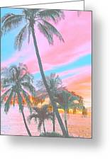 Colored Palms Greeting Card