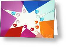 Colored Plexiglas Shapes Greeting Card