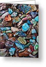 Colored Polished Stones Greeting Card