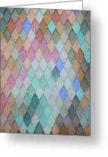 Colored Roof Tiles - Painting Greeting Card