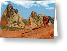 Colored Sandstones Valley Of Fire Greeting Card