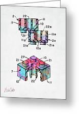 Colorful 1961 Lego Brick Patent Minimal Greeting Card