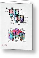 Colorful 1961 Lego Brick Patent Minimal Greeting Card