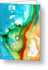 Colorful Abstract Art - Captured - By Sharon Cummings Greeting Card