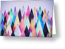 Colorful Abstract Geometric Triangle Peak Woods  Greeting Card