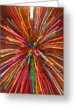 Colorful Abstract Photography Greeting Card