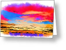 Colorful Abstract Sunset Greeting Card