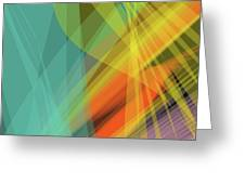 Colorful Abstract Vector Background Banner, Transparent Wave Lin Greeting Card