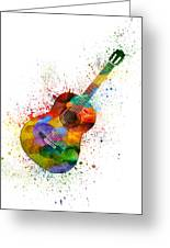 Colorful Acoustic Guitar 02 Greeting Card