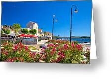 Colorful Adriatic Town Of Rogoznica Greeting Card