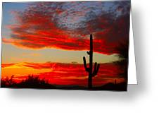Colorful Arizona Sunset Greeting Card
