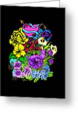 Colorful Art Love Bouquet Greeting Card