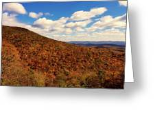 Colorful Autumn Panorama - West Virginia Greeting Card
