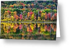 Colorful Autumn Reflections Greeting Card