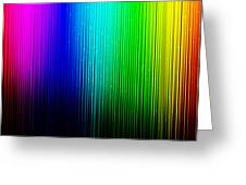 Colorful Background With Vertical Lines Greeting Card