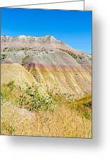 Colorful Badlands Of South Dakota Greeting Card