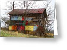 Colorful Barn Greeting Card