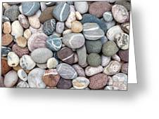 Colorful Beach Pebbles Greeting Card