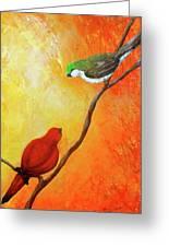 Colorful Bird Art Greeting Card