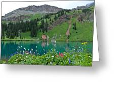 Colorful Blue Lakes Landscape Greeting Card