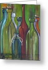 Colorful Bottles Greeting Card