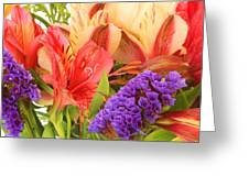 Colorful Bouquet Of Flowers Greeting Card