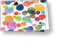 Colorful Bubbles Greeting Card