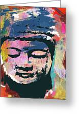 Colorful Buddha 1- Art By Linda Woods Greeting Card